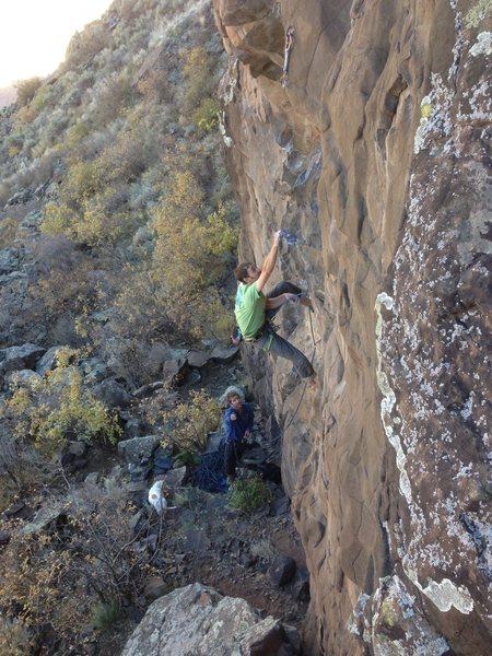 Rock Climbing Photo: Haj heading up Stone Temple Pilot, Matt and Jameso...