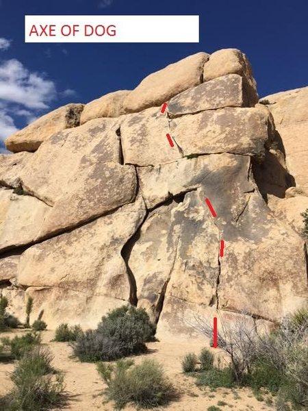 Rock Climbing Photo: AXE OF DOG