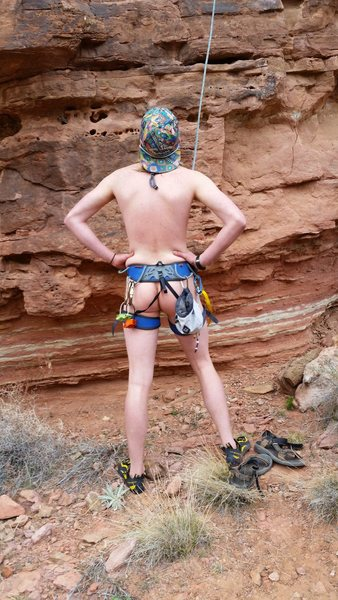 Rock Climbing Photo: FNA (first naked ascent).  You're in the middl...