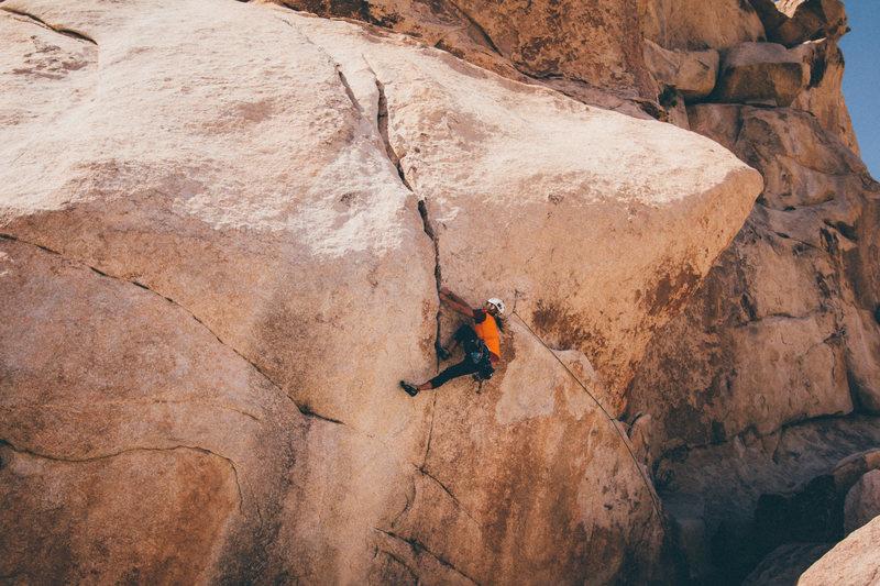 Rock Climbing Photo: One move wonder crux