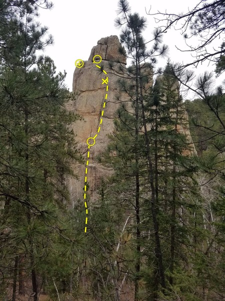 Rock Climbing Photo: Ishmael 5.12-
