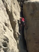Rock Climbing Photo: Gavin (11) on his first time climbing in Montana.