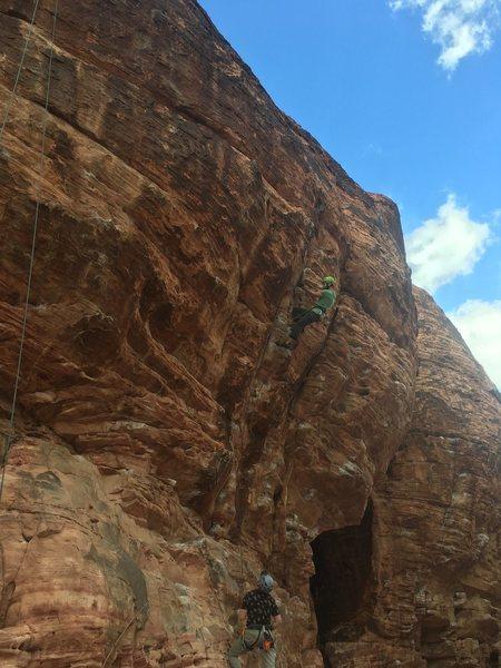 Rock Climbing Photo: Clean falls, big holds, great climb!