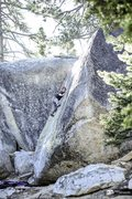 Rock Climbing Photo: big greeny on a crisp morning in the campground. P...