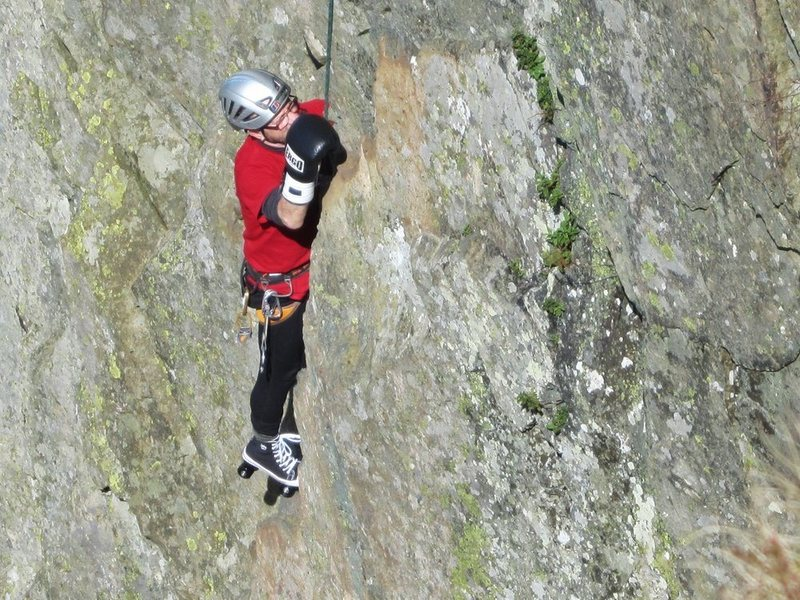 Rock Climbing Photo: Boxing gloves and Roller Skates ascent of Little C...