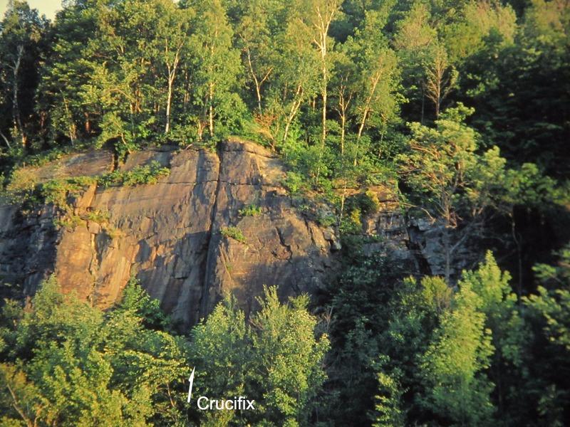 Rock Climbing Photo: View across the lock, 7-4-77.