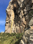 Rock Climbing Photo: The dotted line shows Rafael Borras, find the clim...