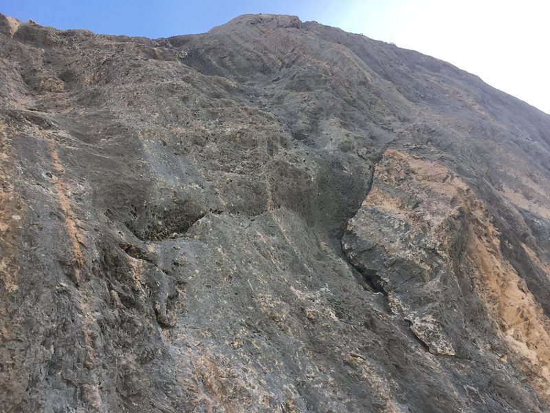 Rock Climbing Photo: Right angling crack is the begging of Just Left of...