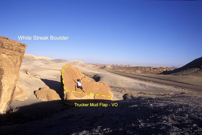 Rock Climbing Photo: Trucker Mud Flap