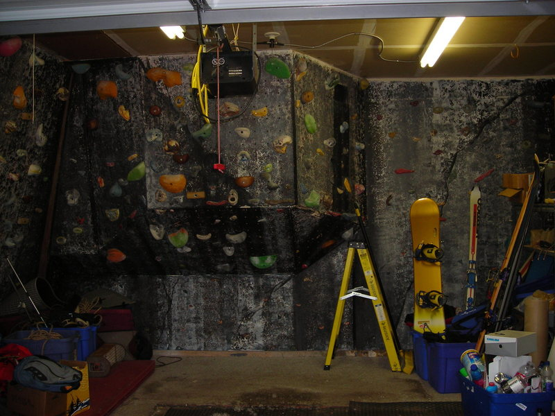 Rock Climbing Photo: David Russell's garage wall