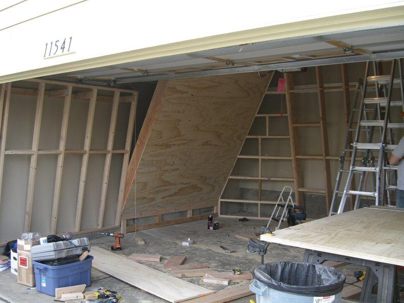 David Hodges's garage wall