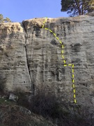 Rock Climbing Photo: LitD topo