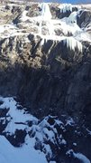 Rock Climbing Photo: Big Brother is the huge upper pillar on the left s...