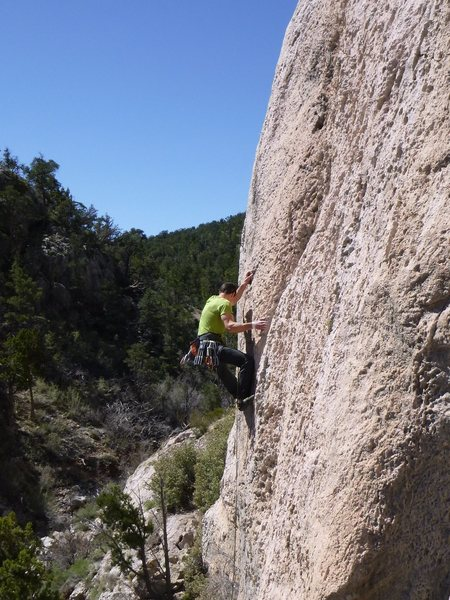 Rock Climbing Photo: The business is short lived... but it is a short c...