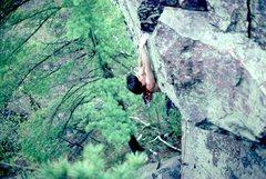 Rock Climbing Photo: Dennis Junkins.   1984.