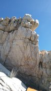 Rock Climbing Photo: Sit start in the left undercling and a right pinch...