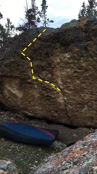 Rock Climbing Photo: Rail boulder