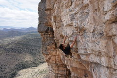 Rock Climbing Photo: Jon right above the crux and on his way to the ama...