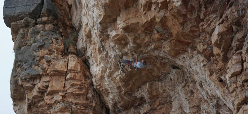 Rock Climbing Photo: Pinch, toe hook, rose through to pocket, match han...