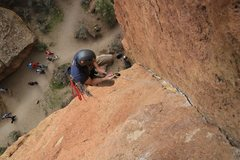 Rock Climbing Photo: Josh Braunstein clocking some air time