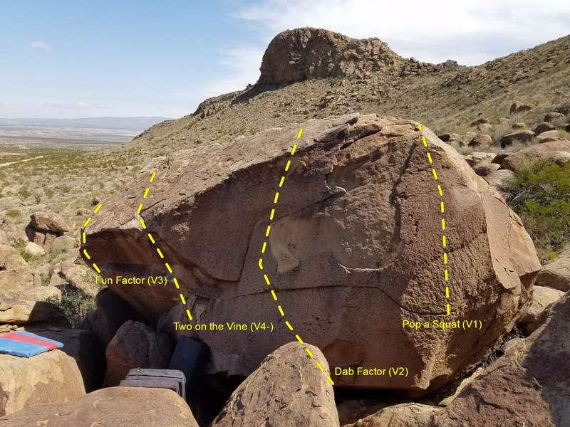 Rock Climbing Photo: A view of the Factor Boulder's SW corner