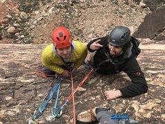 Rock Climbing Photo: The brothers Friesen on Birdland!  Feb 2017