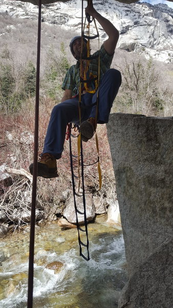 Rock Climbing Photo: Cool spot to practice some roof aiding.