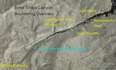 Overview of Ernst Tinaja Canyon