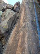 Rock Climbing Photo: The route is in the center, and you can see the fi...
