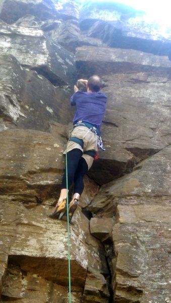 My first outdoor route was The Groove at Allenbrook.