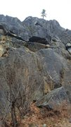Rock Climbing Photo: The original bolted start and the Crack start to t...