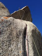Rock Climbing Photo: Charlie on the Pinnacle Pitch, Getting High in the...