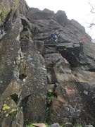 Rock Climbing Photo: About half way up Ron Love Verly