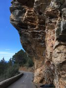 Rock Climbing Photo: Sostre den Burotet from the road, just before the ...