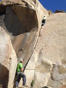 Rock Climbing Photo: this route eats gear, great for the new crack lead...