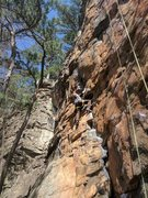 Rock Climbing Photo: Jay is working his way up Private Property
