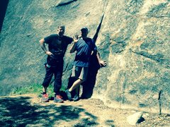 Rock Climbing Photo: Here's a pix of me and my life time friend Bil...