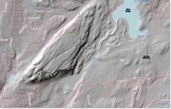 Rock Climbing Photo: LiDAR Scan of Short Mountain showing Winter Wall a...
