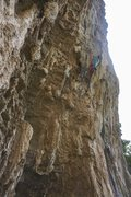 Rock Climbing Photo: The bottom overhang of 'La guerra di Piero&#39...