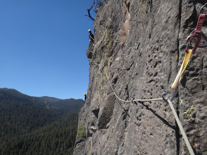Rock Climbing Photo: Follower's POV from the little stance after cl...