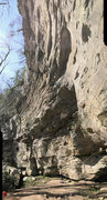 Rock Climbing Photo: Vertical Pano of the whole route