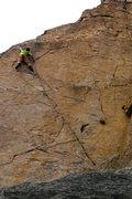 Rock Climbing Photo: Hofer near the top of 84 Beacon Street, 10a.