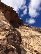 Rock Climbing Photo: Elliot Swanson on the Hanging belay at the end of ...
