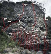 Rock Climbing Photo: Topo lines in Baños, San Martín zone