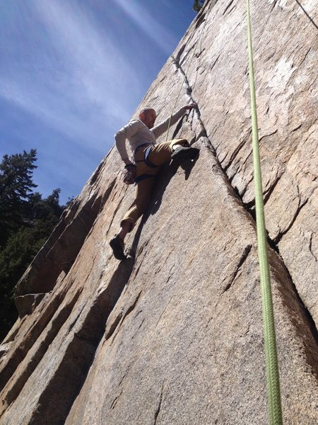 Rock Climbing Photo: About halfway up.
