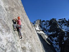 Rock Climbing Photo: Vitaliy casting off onto another huge runout, P8 S...