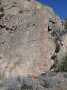 Rock Climbing Photo: Sidepull topo