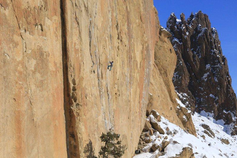 Rock Climbing Photo: Smith Rock mid winter