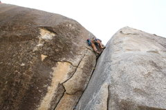 Rock Climbing Photo: Liebacking the climb. If chosen wisely, this climb...