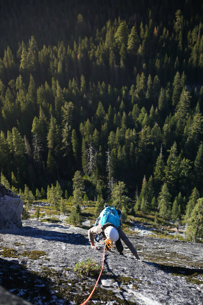 Rock Climbing Photo: 3rd pitch finish.